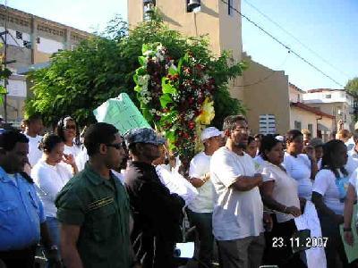 Demonstration zum Gedanken an Ceballos Peñaló