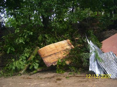 Sturm Olga im Dezember 2007
