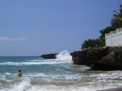 Playa Chiquita Felsen rechte Seite