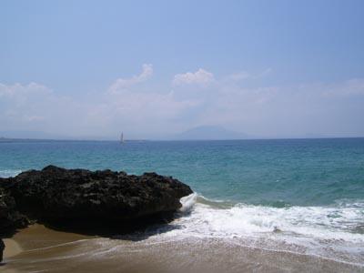Playa Chiquita Felsen