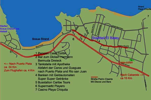 Stadtplan Sosua