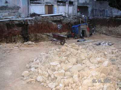 Baustelle Tiefgarage in Sosua