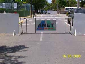 Wahl in Sosua gesperrte Straße