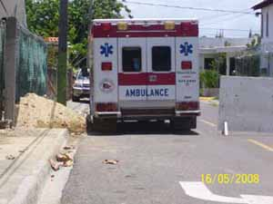 Wahl in Sosua Krankenwagen