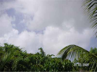 Sosua unter Wolken
